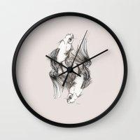 koi Wall Clocks featuring Koi by Heaven7