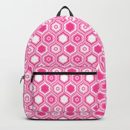 Fuchsia Pink Mid Century Modern Double Quatrefoil Backpack