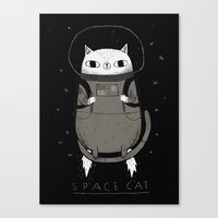 soviet Canvas Prints featuring space cat by Louis Roskosch