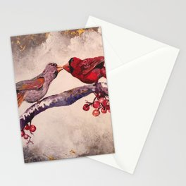 Kissing Cardinals Stationery Cards