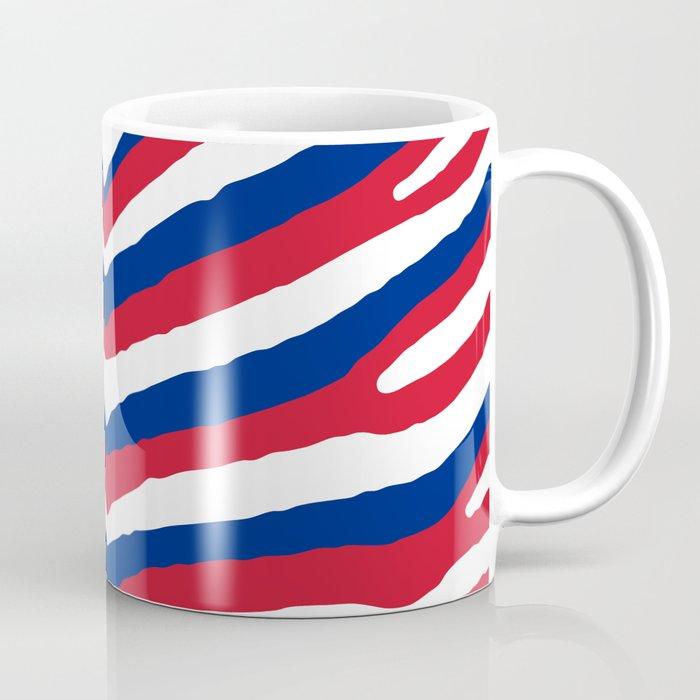 UK British Union Jack Red White and Blue Zebra Stripes Coffee Mug