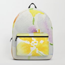 Delicate Watercolour Flowers Backpack
