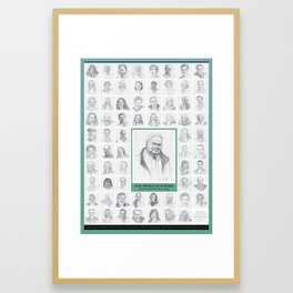 Our Prince of Scribes poster Framed Art Print