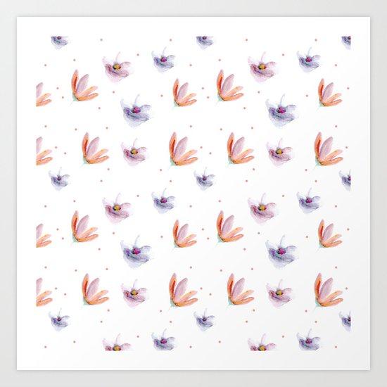 Delicate Floral Pattern 05 Art Print
