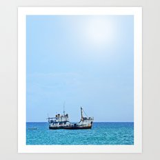 RUST FLOATS (Guadacanal, Solomon Islands) Art Print