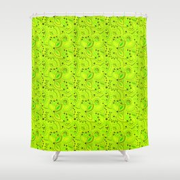 Green neon  , placer beads #neon #bright Shower Curtain