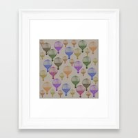 hot air balloons Framed Art Prints featuring Colorful Hot Air Balloons by Zen and Chic