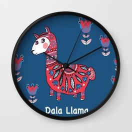 Dala Llama Wall Clock