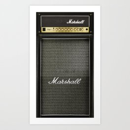 Gray amp amplifier Art Print