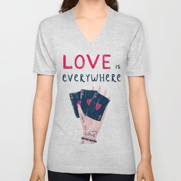 Love is everywhere Unisex V-Neck