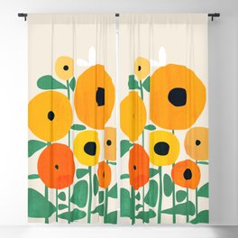 Sunflower and Bee Blackout Curtain