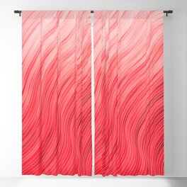 stripes wave pattern 2 with lines vdr Blackout Curtain