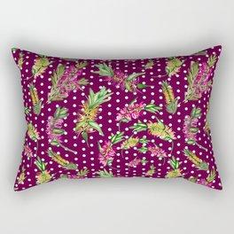 Australian Native Watercolour Flower Rectangular Pillow