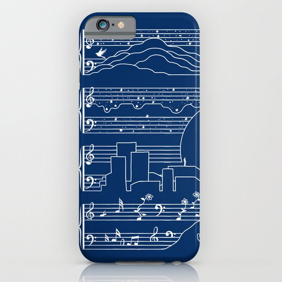 The Moonlight Sonata Blue iPhone & iPod Case