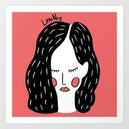 Dreamer girl Art Print
