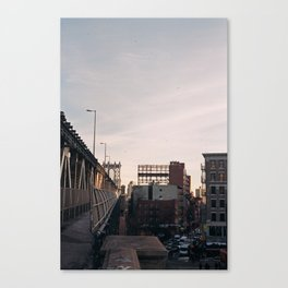 manhattan bridge, nyc Canvas Print