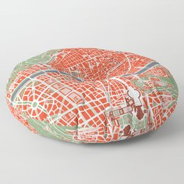 Rome city map classic Floor Pillow