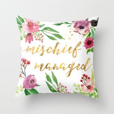 Mischief Managed Garden Throw Pillow