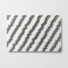Pattern of brushed metal cylinders Metal Print