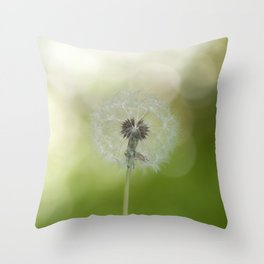 Dandelion in LOVE- Flower Floral Flowers Spring Throw Pillow