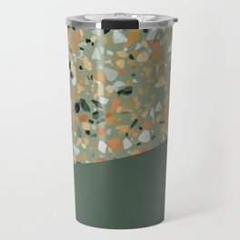 Terrazzo Texture Military Green #4 Travel Mug