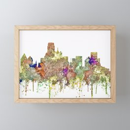 Dallas, Fort Worth Texas SG - Faded Glory Framed Mini Art Print