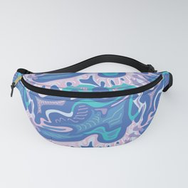 Modern Paisley Blue and Pink Fanny Pack