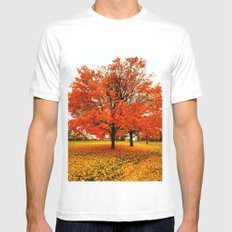 Changing Colors. MEDIUM Mens Fitted Tee White