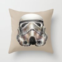 stormtrooper Throw Pillows featuring Stormtrooper by beart24