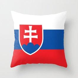 Flag of Slovakia - Slovakian Throw Pillow