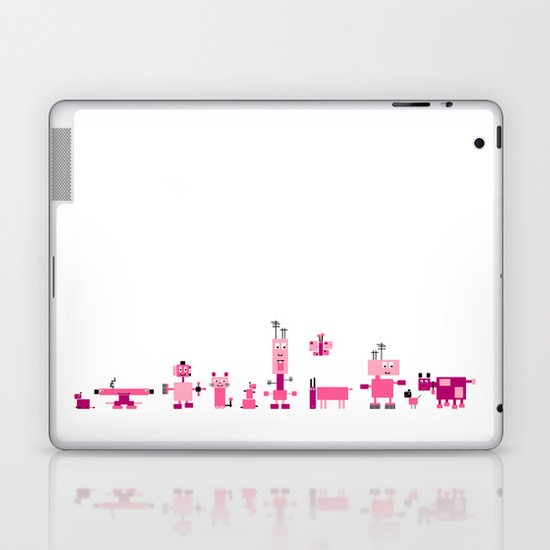 Robots-Pink Laptop & iPad Skin