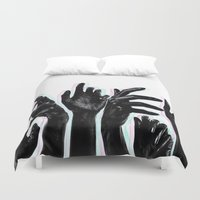 hands Duvet Covers featuring Hands by Nasayousef