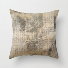 Time passing by Throw Pillow