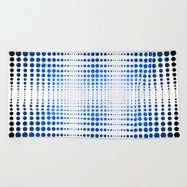 Blue dot, dot, dot Beach Towel