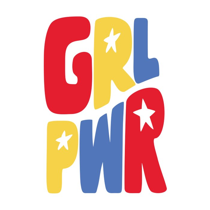 GRL PWR Star Duvet Cover