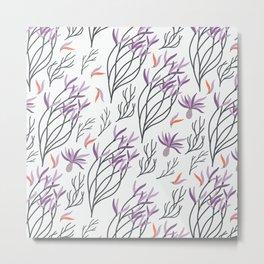 Mod Beach Floral Metal Print