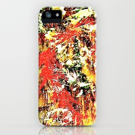 Golden Autumn Abstract iPhone Case