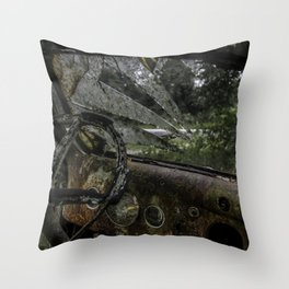 Dashed Board Throw Pillow