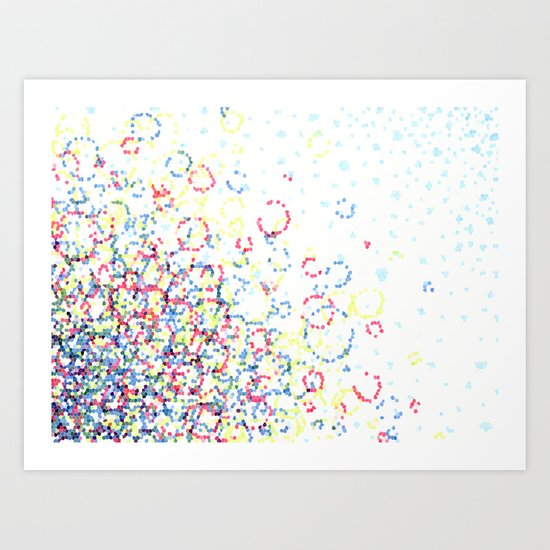 Abstract Hexies Art Print