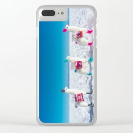Llamas on the Bolivia Salt Flats Clear iPhone Case