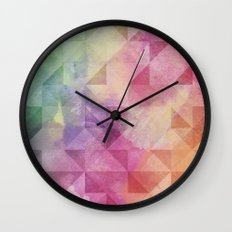Triangles Pattern Wall Clock