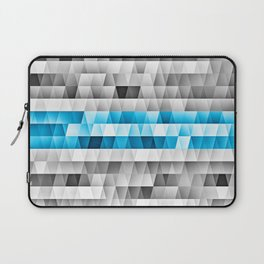 Blue Stripe Geometric Pattern Laptop Sleeve