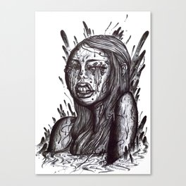 Swamp Girl uncolored  Canvas Print