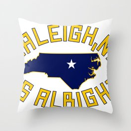 NC is Alright Throw Pillow