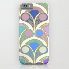 Peacock art déco pattern  for fine home decoration iPhone Case