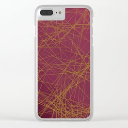 Sharp Edges (Maroon) Clear iPhone Case