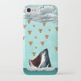 Pizza Shark Print iPhone Case