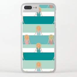 Summer view Clear iPhone Case