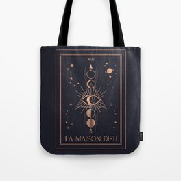 La Maison Dieu or The Tower Tarot Tote Bag