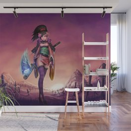 Hentai Girl Samurai Warrioress On The Battlefield Ultra HD Wall Mural